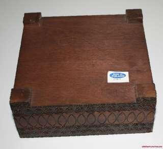 Gorals Hand CARVED Painted TATRA WOOD TRinket JEWELRY BOX RayLC