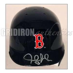 Julio Lugo Autographed Black Mini Helmet   Autographed MLB