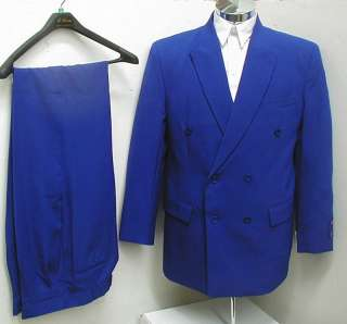 New Men Royal Blue Double Breasted Dress Suit All Sizes