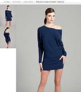 MARCIANO GUESS TRESSA SWEATSHIRT DRESS BLUE SWEATER TUNIC TOP XS,S,M,L