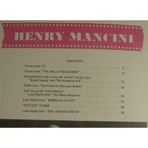Henry Mancini Piano Solos (Owl No 161): Famous Music Corp: Books