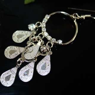 New and High Quality Bohemian Style Rhinestones Circle Dangle Earrings