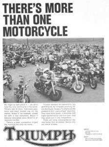 1965 Triumph Bonneville Motorcycle More Than One Original Ad