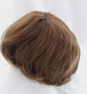 Sz. Size 13/14 Slight End Curl Auburn Doll Wig Baby, Reborn OOAK BJD
