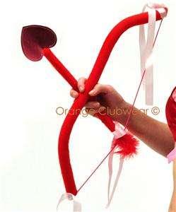 Sexy Cupid Costume Wings Bow Arrow Halloween 3 pc. Kit