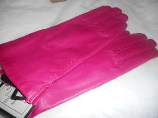 Swany Hot Pink Genuine Leather Gloves,