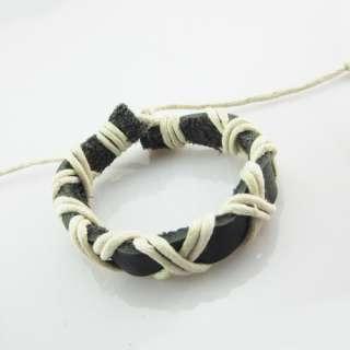 Hot,Gift Retro Fashion Fine hand woven hemp Leather Cuff Bracelet