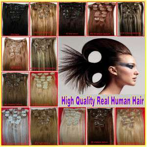 SUPER HOT 9PCS 100g Remy Clip In 100% Human Hair Extensions 3 Lengths