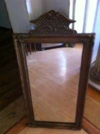 Vintage Antique Gold Ornate Gesso wood Frame Mirror