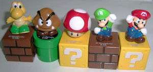 Super Mario Brothers Cake Topper Figure Toy Set of 5pc