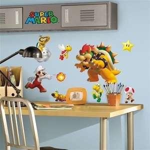 SUPER MARIO wall stickers 35 decals Nintendo BOWSER Luigi WII Yoshi