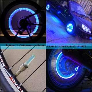 Bike Cycling Neon LED Wheel Spoke Valve Cap Alarm Light