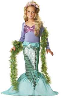Girls Little Mermaid Kids Ariel Child Halloween Costume