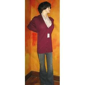 Secret Raspberry Long Silk Cashmere Cardigan Large