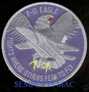 AUTHENTIC F 15 EAGLE US AIR FORCE PATCH USAF F 15 WOW!
