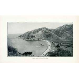 1902 Print California Coastline Pier Beach Houses Pacific Ocean Beach