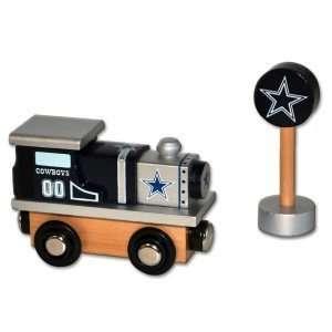 Dallas Cowboys Wooden Toy Train Engine