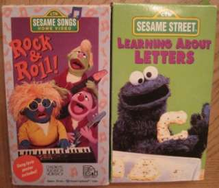 HUGE LOT 17 VHS Videos SESAME STREET ELMOS WORLD BIG BIRD CHRISTMAS