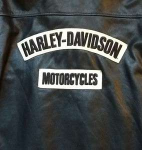 Harley Davidson Distressed Leather Burnout Jacket Men 3XL XXXL Long