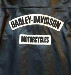 Harley Davidson Distressed Leather Burnout Jacket Men 3XL XXXL Long