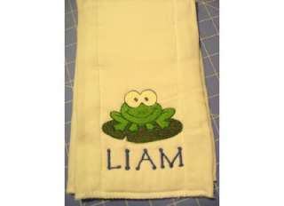 Personalized Monogramed Boy Girl Baby Burp Cloths