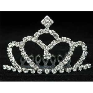 New Bridal Flower Girl Prom Party Crystal Tiara Comb 38 Beauty