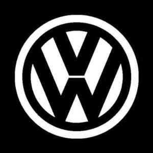 VW SIGN 5.5 WHITE   Vinyl Sticker Decal (Car,Transportation