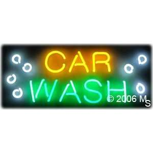 Neon Sign   Car Wash   Large 13 x 32 Grocery & Gourmet Food
