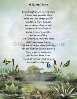 Stepmom Gift A Second Mom Personalized Poem Keepsake