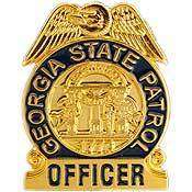 GEORGIA STATE PATROL OFFICER POLICE LAPEL BADGE PIN
