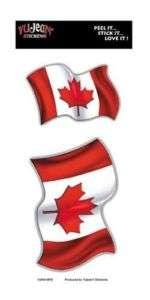 Canadian Flag Patriotic Sticker set of 2, bumper