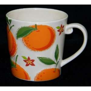Starbucks Oranges Coffee Mug Cup 2006 Huge Large Big