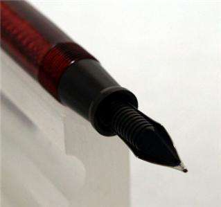 Esterbrook J Series Fountain Pen Red Restored + New Free Leather Case