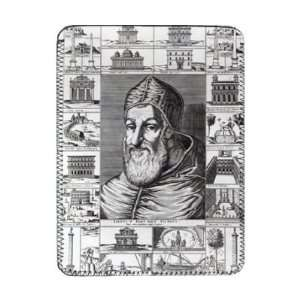 Pope Sixtus V, surrounded by the churches,..   iPad Cover