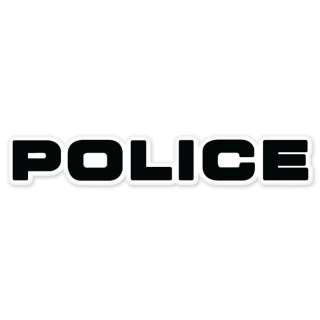 Police car bumper sticker decal 8 x 1