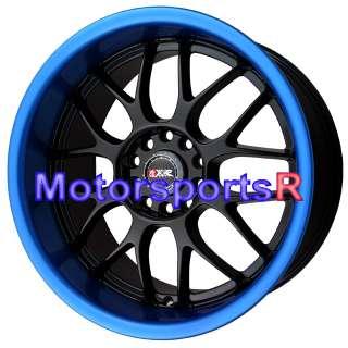 18 XXR 006 Black Blue Lip Wheels Rims Staggered Deep Dish 03 07 08
