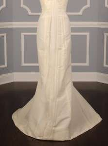 AUTHENTIC Carolina Herrera 35807 Ivory Silk Faille Organza Bridal Gown