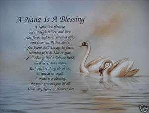 PERSONALIZED NANA POEM A SPECIAL GIFT FOR GRANDMOTHER