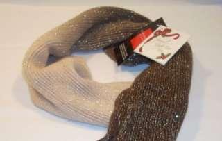 Classique Womens Sparkle Two Tone Color Scarf Scarves