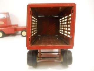 1960s TONKA Cattle Livestock Truck and Trailer  Vintage Steel Farm
