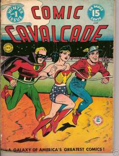 COMIC CAVALCADE #1 GOLDEN AGE 1942 COMIC BOOK SUPERHERO