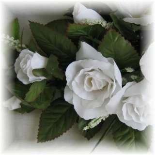 ROSE SWAG WHITE Wedding Table Centerpiece Silk Flowers Arch Gazebo