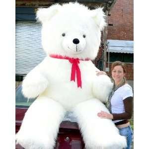 Feet Tall Biggest Valentine Teddy Bear in the World White Furry