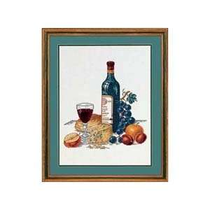 Cheese, Fruit, & Red Wine Counted Cross Stitch Kit Arts