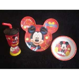 Disneys Mickey Mouse Bowl, Cup & Ear Shaped Plate Set Baby