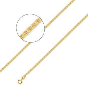14K Solid Yellow Gold Gucci   Mariner Chain Necklace 2 mm
