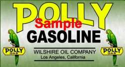 Polly Gas B 3x6 Gasoline Decals Gas Oil Vinyl Stickers Signs