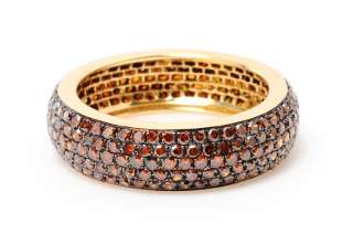 ROW 1.92 CT DIAMOND PAVE ETERNITY BAND RING 14K GOLD