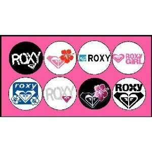 Set of 8 Roxy Girl Pinback Buttons Pins
