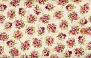 PRETTY IN PINK SMALL SPRING PANSIES QUILT FABRIC